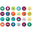 Appliances round icons set vector image vector image