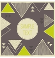Abstract hand drawn triangle background Tribal vector image