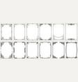 big set template of decorative vintage frames vector image