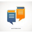 book talks - concept design with speech bubbles vector image