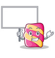 bring board marshmallow character cartoon style vector image