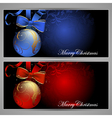 Christmas baubles design vector image