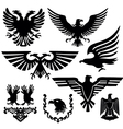 coat of arms with an eagle vector image