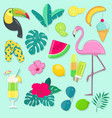 collection of summer party icons vector image