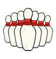 Comic cartoon bowling pins vector image