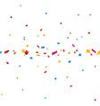 Confetti celebration banner vector image