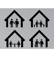 Family with houses vector image