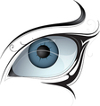 Female eye tattoo vector image