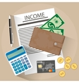 income concept flat style vector image
