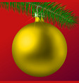 realistic golden matte christmas ball or bauble vector image