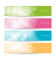 Set colorful polygonal banners vector image