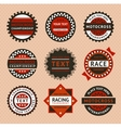 Racing labels - vintage style vector image