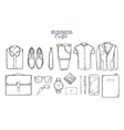 Business Clothing Sketch Set vector image
