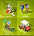 golf 2x2 isometric design concept vector image