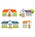 colorful residential houses collection vector image