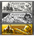 Vintage Minnesota Label Plaque Withe Black and vector image