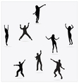 Healthy Young Active dance jumping people vector image