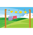 Clothes on the line vector image