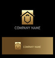home decoration window gold logo vector image
