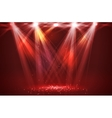 Spotlights on stage with smoke light vector image