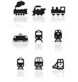 train symbol set vector image