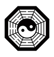 Yin Yang symbol black and white vector image