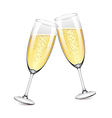 object champagne glasses vector image