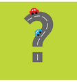 Background with road in shape of question mark vector image