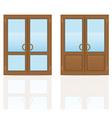 plastic doors 07 vector image