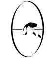 Athletics High jump vector image