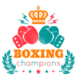 boxing champions crown color vector image