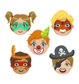 Kids Portraits With Animal Make Up vector image