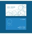 abstract blue circles horizontal corner frame vector image
