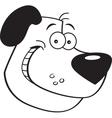 Cartoon Dog Head vector image