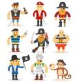 Cartoon pirates set vector image