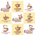 coffee shop collection of logo template with vector image