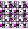 Design seamless colorful mosaic tetragon pattern vector image