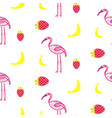 flamingo summer seamless texture vector image