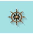 Ship steering wheel in a flat style Sailing vector image