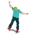 skater balance vector image