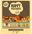 Halloween Card - Trick or Treat Characters vector image