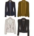 Women jackets vector image