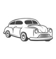 retro car isolated on white background design vector image vector image