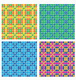 4 seamless candy backgrounds vector image