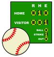 Basic baseball scoreboard vector image vector image