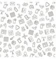 Social life pattern black icons vector image