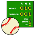 Basic baseball scoreboard vector image