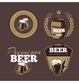 Beer icons labels signs for posters and banners vector image