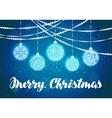 Christmas Xmas decorations and balls vector image