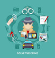 detective colored composition vector image